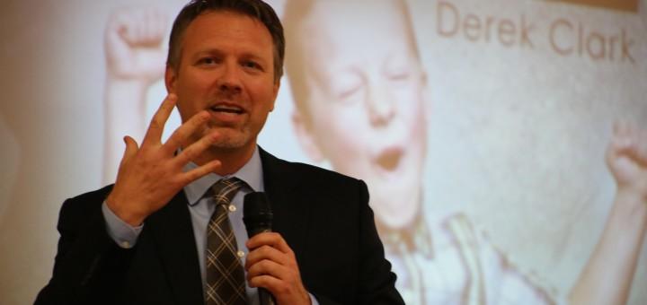 Motivational speaker Derek Clark