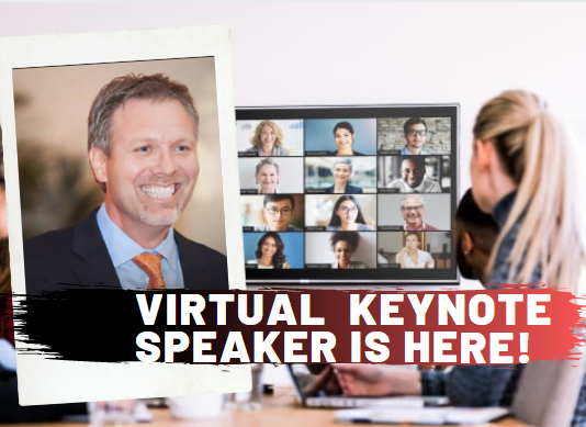 Virtual keynote speaker and webinar trainer Derek Clark